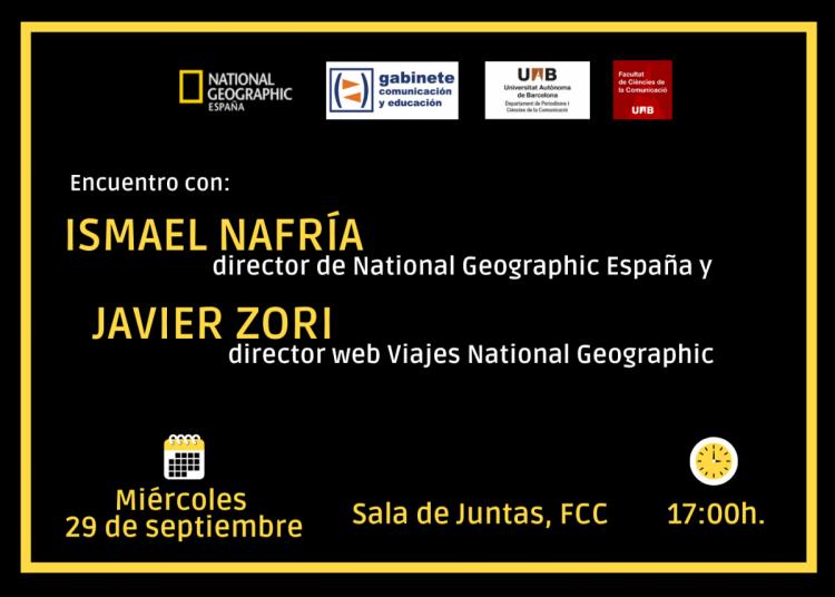 Cartel del encuentro: Ismael Nafría, Javier Zori