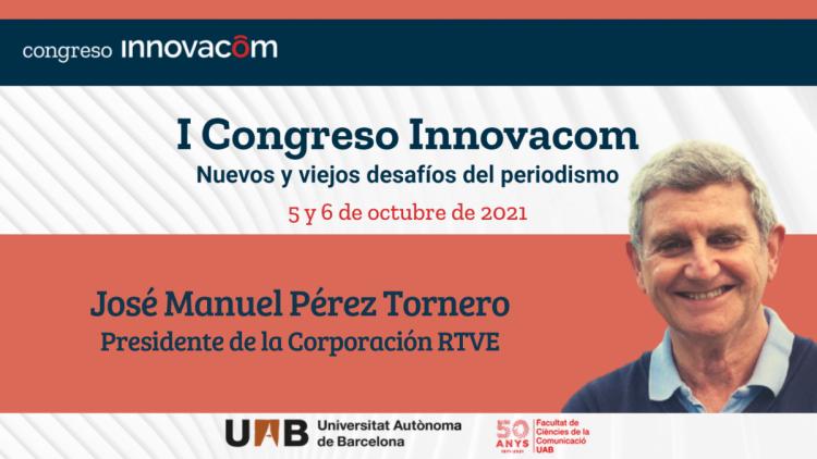 Cartel del congreso, con José Manuel Pérez Tornero